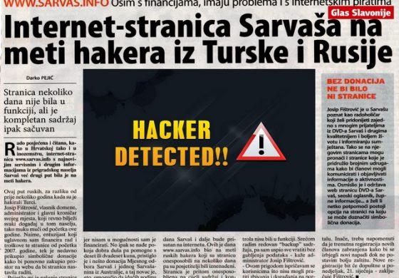 Internet-stranica Sarvaša na meti hakera iz Turske i Rusije