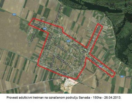 Večeras tretiranje komaraca na području Osijeka, Sarvaša i Tenje