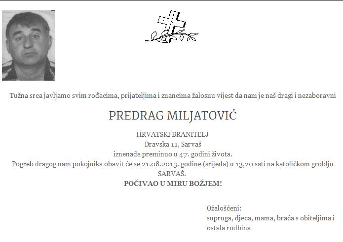 """Photo of POSLJEDNJI POZDRAV """" PREDRAG MILJATOVIĆ"""""""