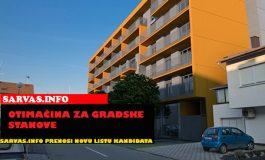 Odluka o usvajanju Prijedloga Liste kandidata za davanje gradskih stanova u najam 2013
