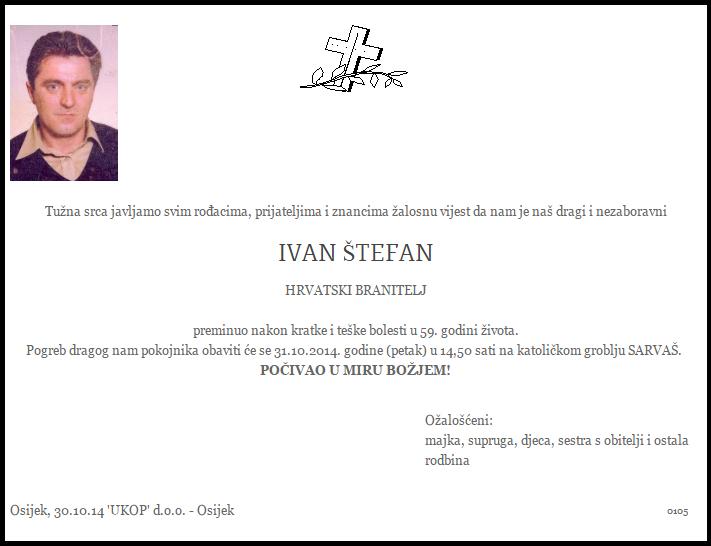 """Photo of POSLJEDNJI POZDRAV """" IVAN ŠTEFAN"""" ( Jaro)"""