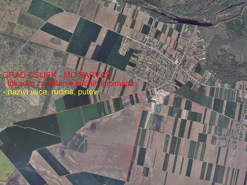 Photo of Javna površina na području MO Sarvaš za šetnju i vođenje pasa