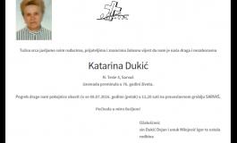 """POSLJEDNJI POZDRAV """" KATARINA DUKIĆ"""""""