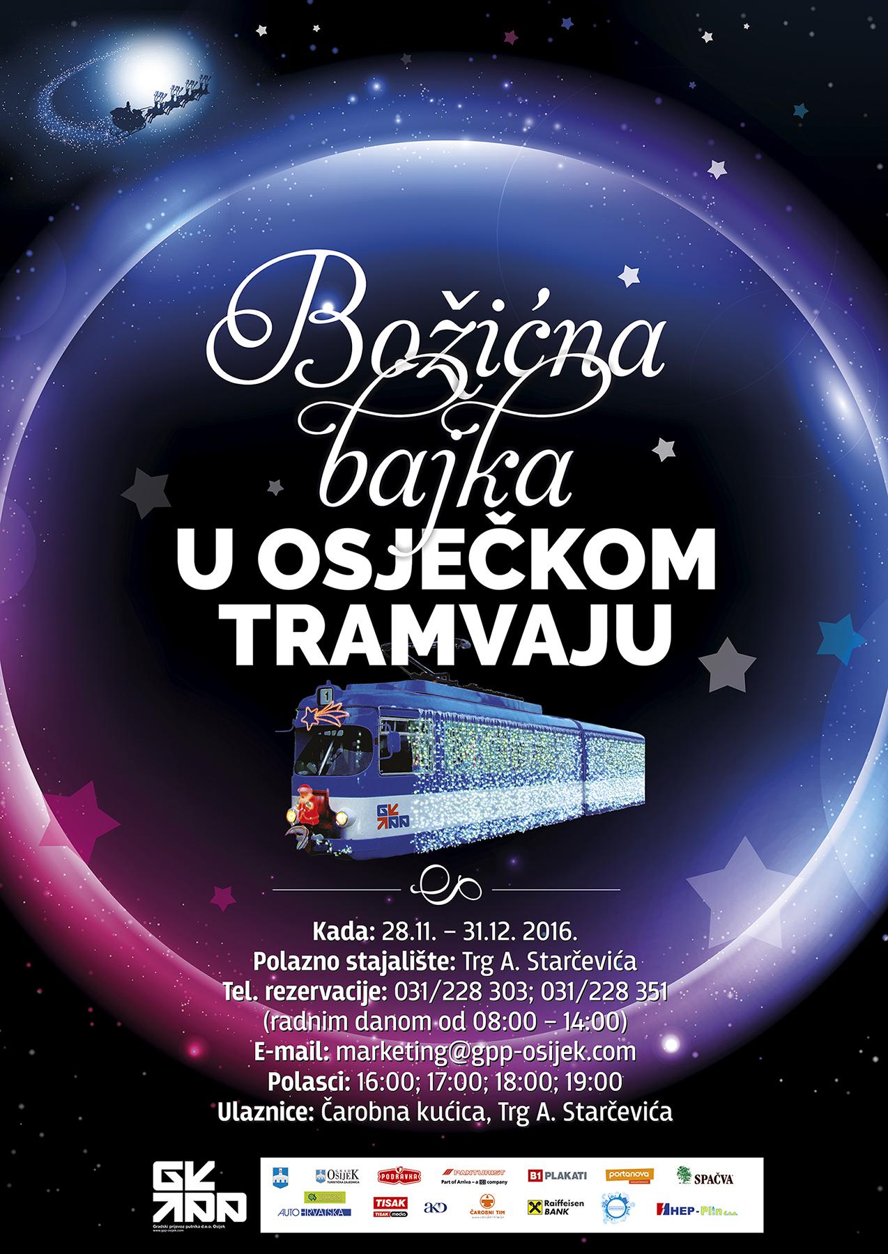 Photo of Božićna bajka u osječkom tramvaju