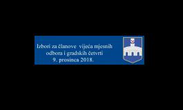 IZVJEŠĆE O ODAZIVU BIRAČA DO 16.00 SATI PO MJESNIM ODBORIMA - GRADSKIM ČETVRTIMA