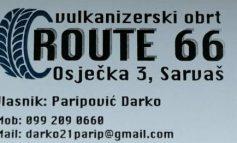 OTVOREN: Vulkanizerski obrt ROUTE 66 u Sarvašu