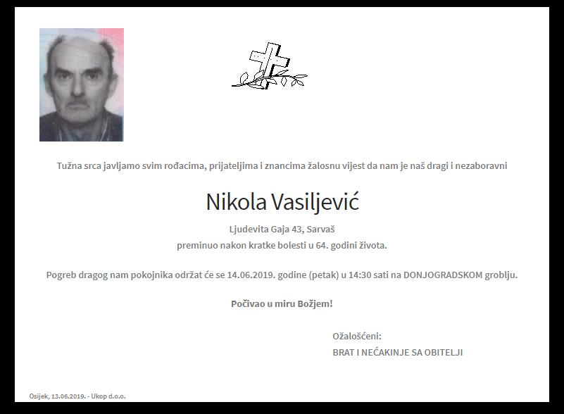 """Photo of POSLJEDNJI POZDRAV """"NIKOLA VASILJEVIĆ """""""
